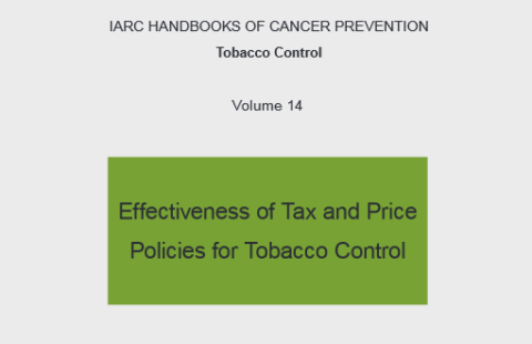 Cover of IARC's tobacco tax and price handbook