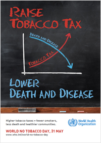 WHO's poster for World No Tobacco Day 2014.