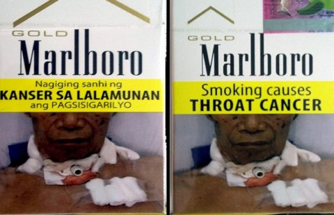 New graphic health warnings in the Philippines.