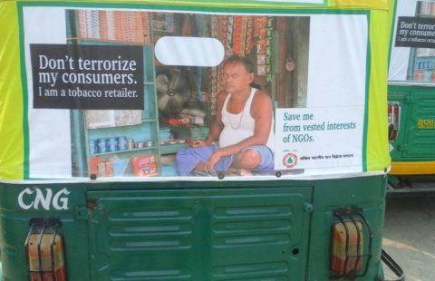 tobacco industry propaganda in New Delhi