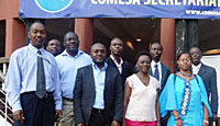 The African tobacco control NGO delegation outside COMESA headquarters.