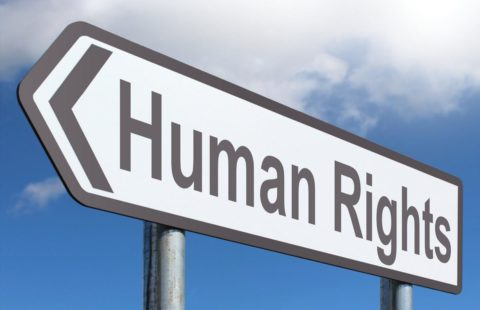 a human rights sign